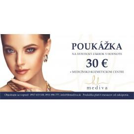 Poukážka na estetický zákrok 30€